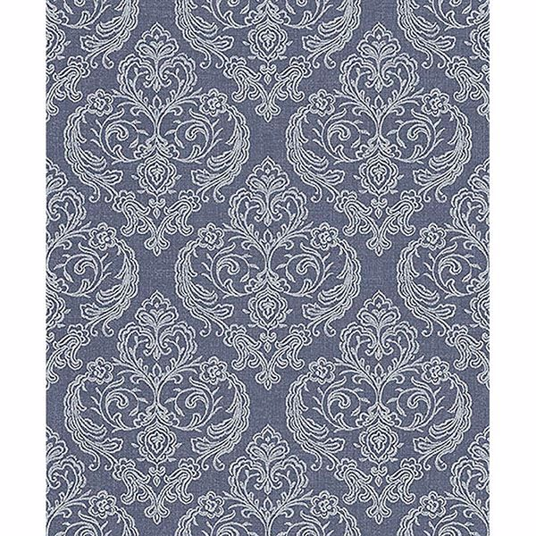 Picture of Ida Blue Damask Wallpaper