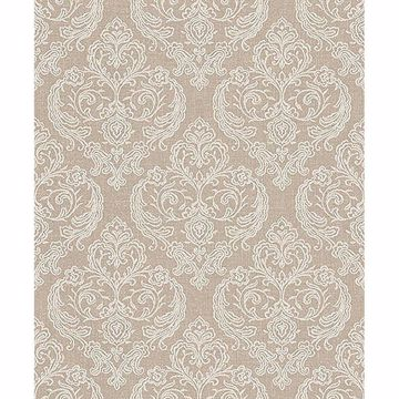 Picture of Ida Beige Damask Wallpaper