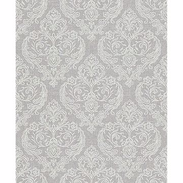 Picture of Ida Light Grey Damask Wallpaper