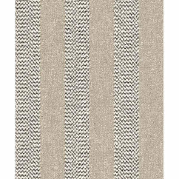 Picture of Audrey Beige Tweed Stripe Wallpaper