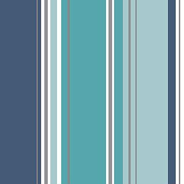 Picture of Energy Blue Striped Wallpaper