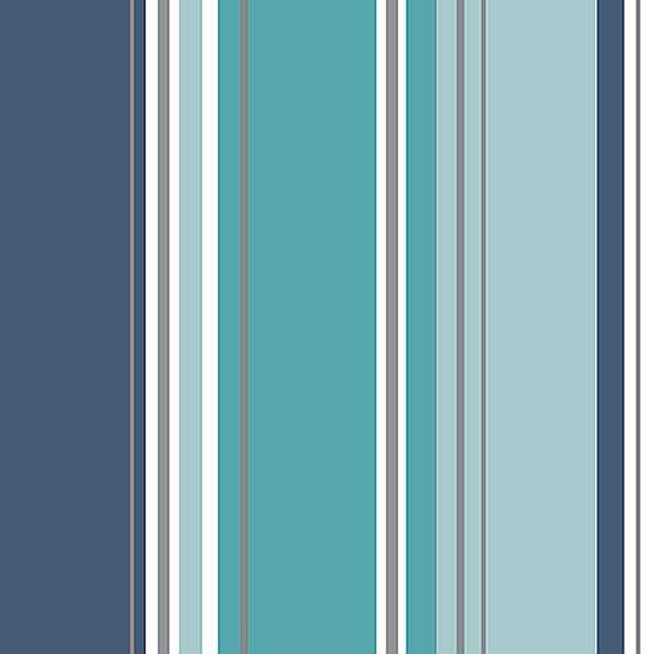M1315 Energy Blue Striped Wallpaper By Coloroll