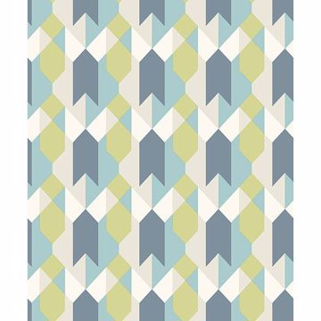 Picture of Copenhagen Blue Geometric Wallpaper