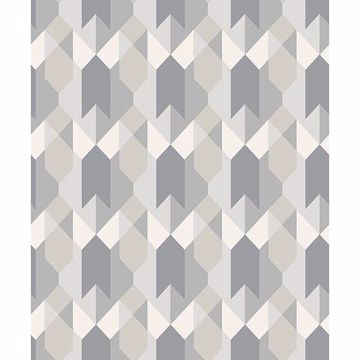 Picture of Copenhagen Grey Geometric Wallpaper
