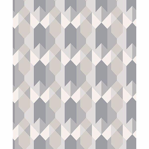 Picture of Copenhagen Grey Geometric Wallpaper