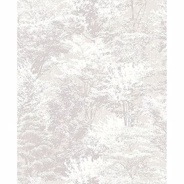 Picture of Camphor Light Grey Trees Wallpaper