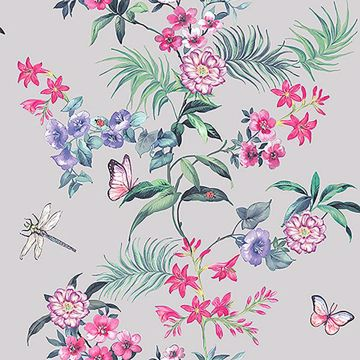 Picture of Carmen Silver Floral Wallpaper