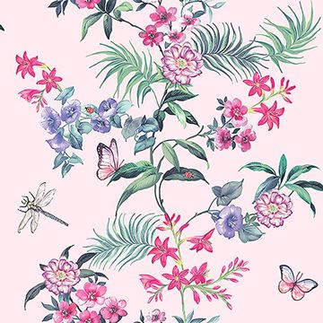 Picture of Carmen Light Pink Floral Wallpaper