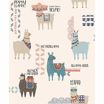 Picture of Quito Multicolor Llamas Wallpaper