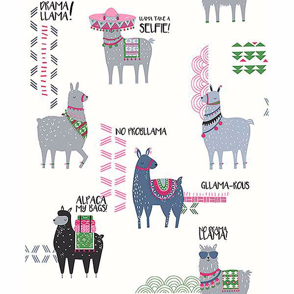 Picture of Quito Pink Llamas Wallpaper