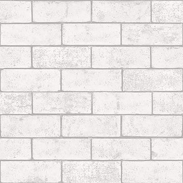 Picture of Kirsten White Industrial Brick Wallpaper