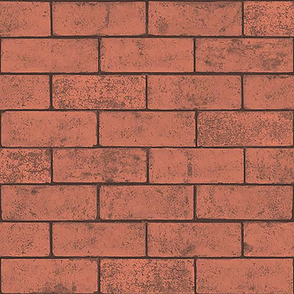 Picture of Kirsten Red Industrial Brick Wallpaper