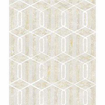 Picture of Stormi Beige Geometric Wallpaper