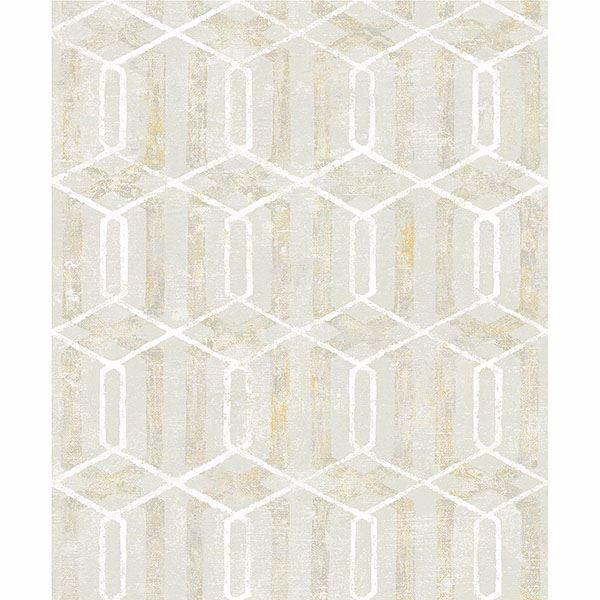 Picture of Stormi Beige Geometric Wallpaper