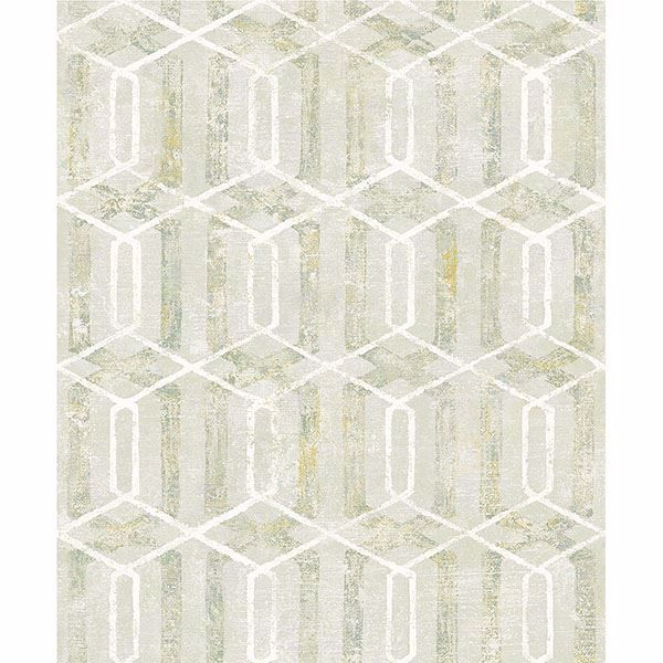 Picture of Stormi Light Green Geometric Wallpaper