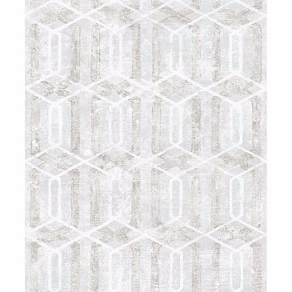 Picture of Stormi Light Grey Geometric Wallpaper