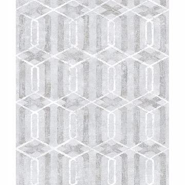 Picture of Stormi Grey Geometric Wallpaper
