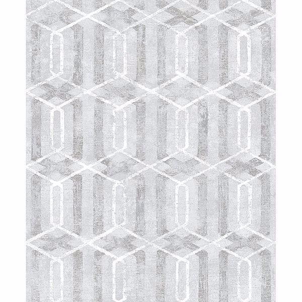Picture of Stormi Grey Geometric Wallpaper