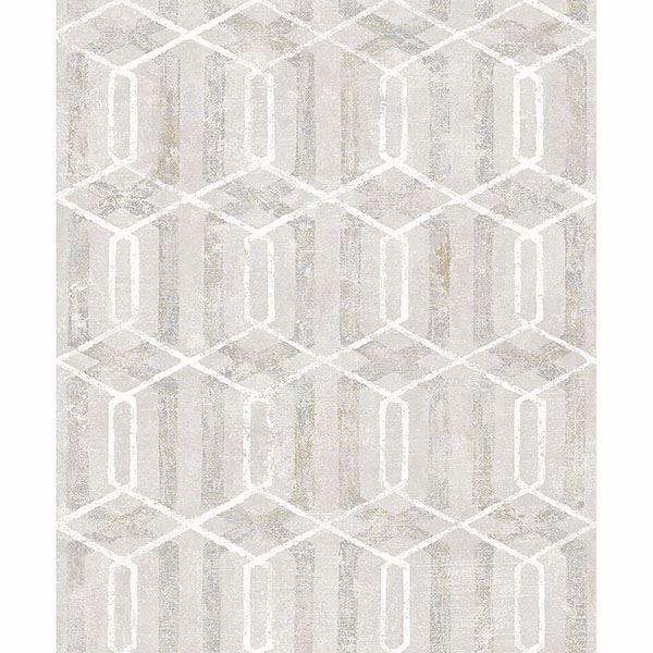 Picture of Stormi Cream Geometric Wallpaper
