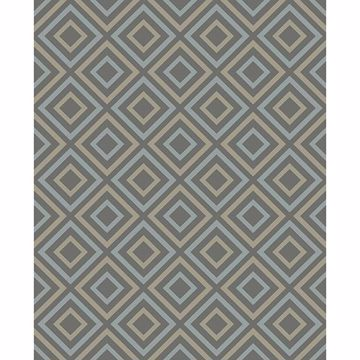 Picture of Horus Taupe Diamond Geo Wallpaper
