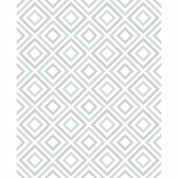 Picture of Horus Seafoam Diamond Geo Wallpaper