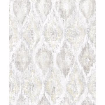 Picture of Gilboa Eggshell Ikat Wallpaper