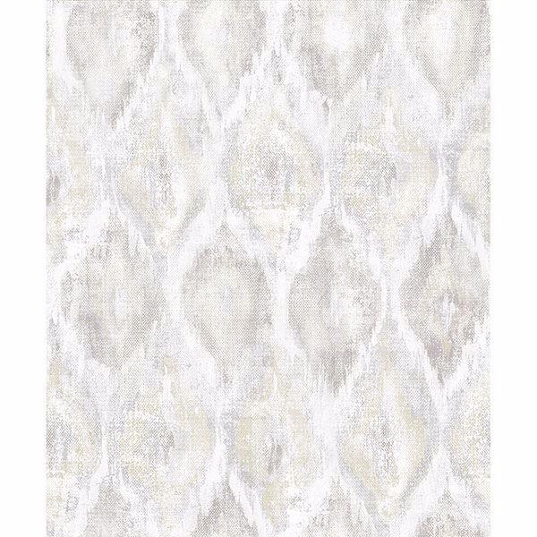 Picture of Gilboa Eggshell Ikat Wallpaper
