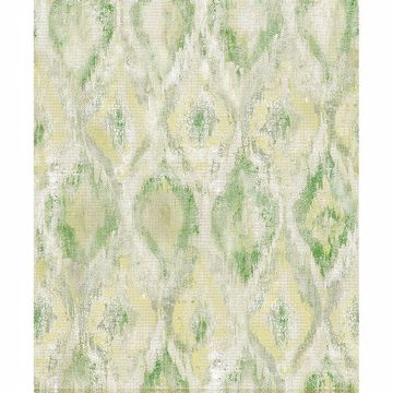 Picture of Gilboa Green Ikat Wallpaper