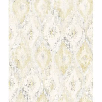Picture of Gilboa Yellow Ikat Wallpaper