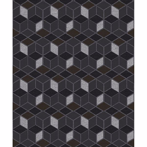Picture of Joanne Charcoal Blox Wallpaper