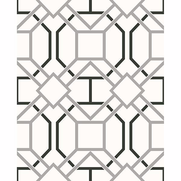 Picture of Dauphin Off-White Lattice Wallpaper