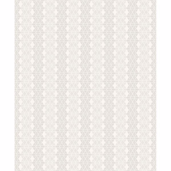 Picture of Taylor Light Grey Diamond Wallpaper