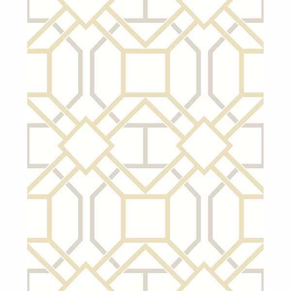Picture of Dauphin Mustard Lattice Wallpaper