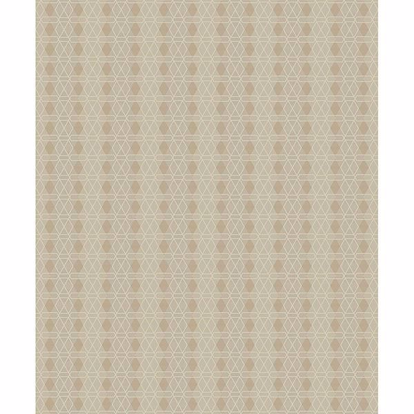 Picture of Taylor Beige Diamond Wallpaper
