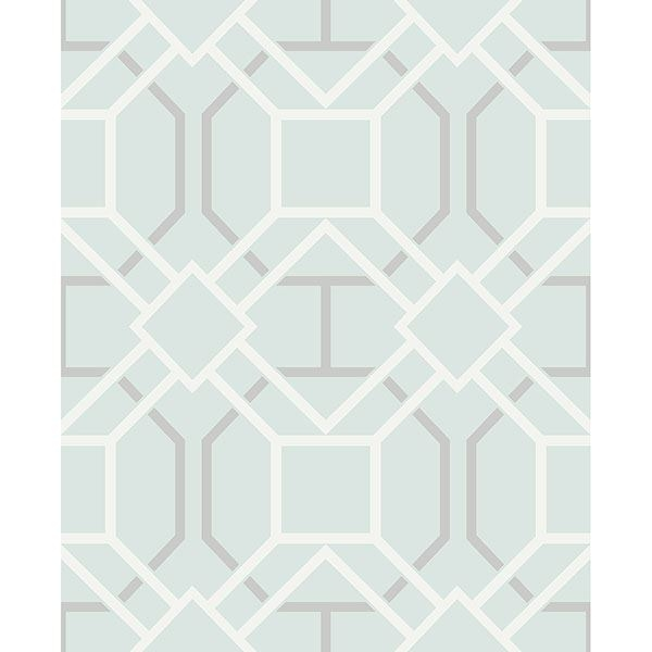 Picture of Dauphin Light Blue Lattice Wallpaper