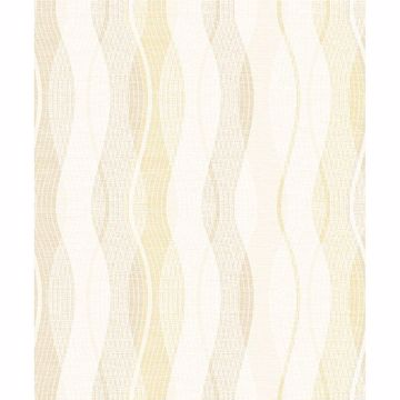 Picture of Jenner Light Yellow Wave Wallpaper
