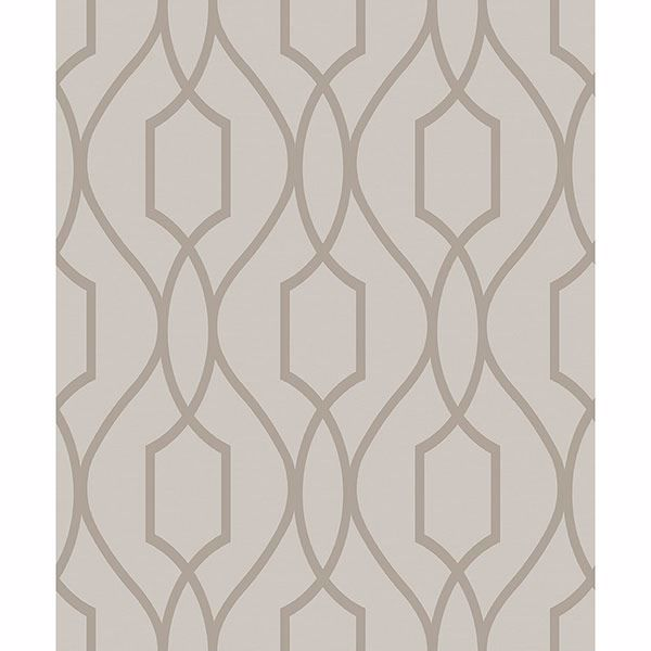 Picture of Evelyn Bronze Trellis Wallpaper