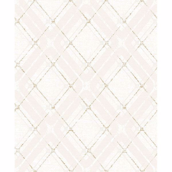 Picture of Hadley Beige Argyle Wallpaper
