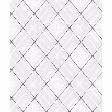 Picture of Hadley Grey Argyle Wallpaper