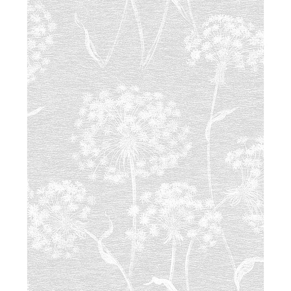 Picture of Carolyn Light Grey Dandelion Wallpaper