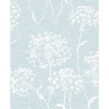 Picture of Carolyn Light Blue Dandelion Wallpaper