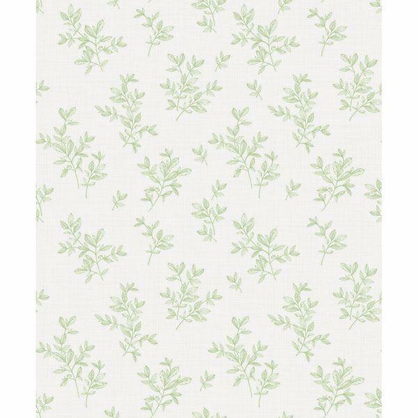 Picture of Pothos Light Green Toss Wallpaper
