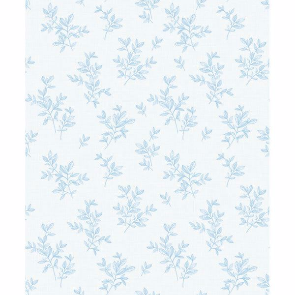 Picture of Pothos Light Blue Toss Wallpaper
