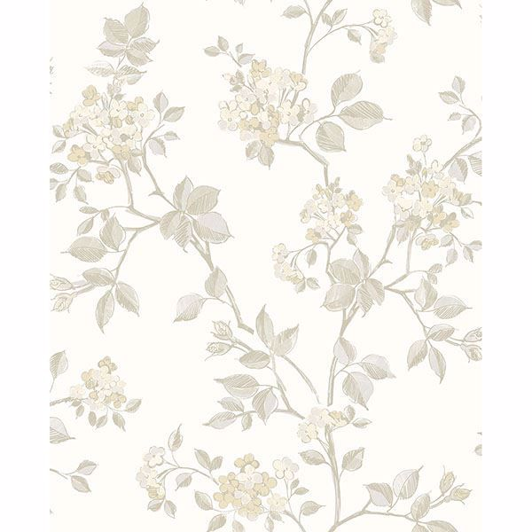 Picture of Parry Bone Floral Wallpaper