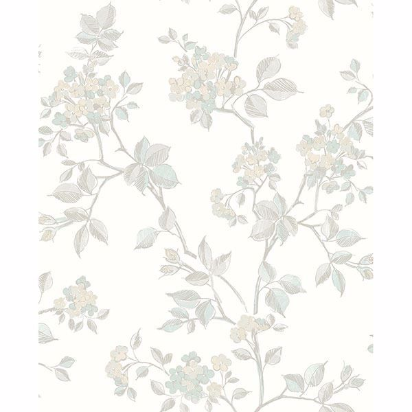 Picture of Parry Light Grey Floral Wallpaper
