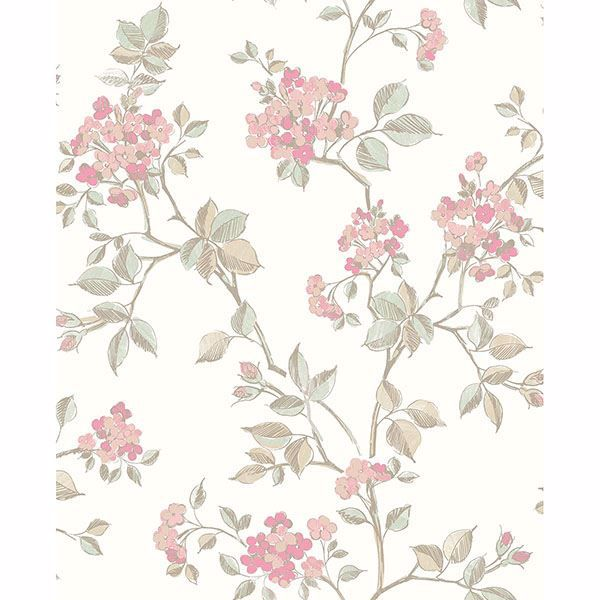 Picture of Parry Pink Floral Wallpaper
