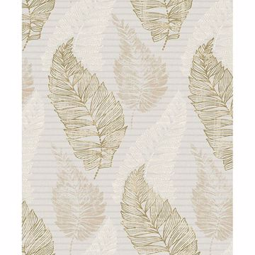 Picture of Rosemary Khaki Leaf Wallpaper