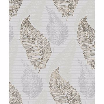 Picture of Rosemary Grey Leaf Wallpaper