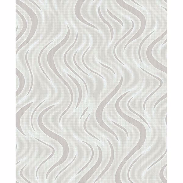 Picture of Roxie Silver Wave Wallpaper