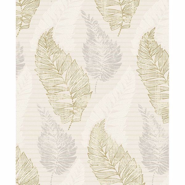 Picture of Rosemary Cream Leaf Wallpaper